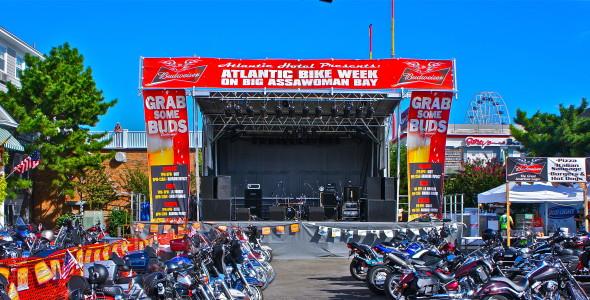 Delmarva Bike Week, EAW Virtual Line Arry, Stageline SL100 Mobile Stage