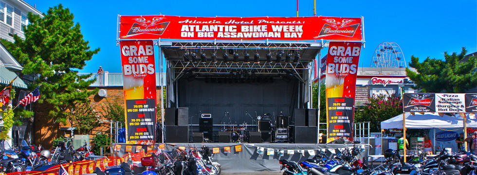 Delmarva Bike Week, EAW Virtual Line Arry, Stageline SL100 Mobile Stage
