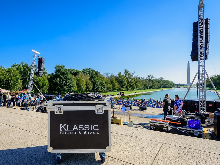 Clair i3 Line Array on National Mall at Lincoln Memorial in Washington DC