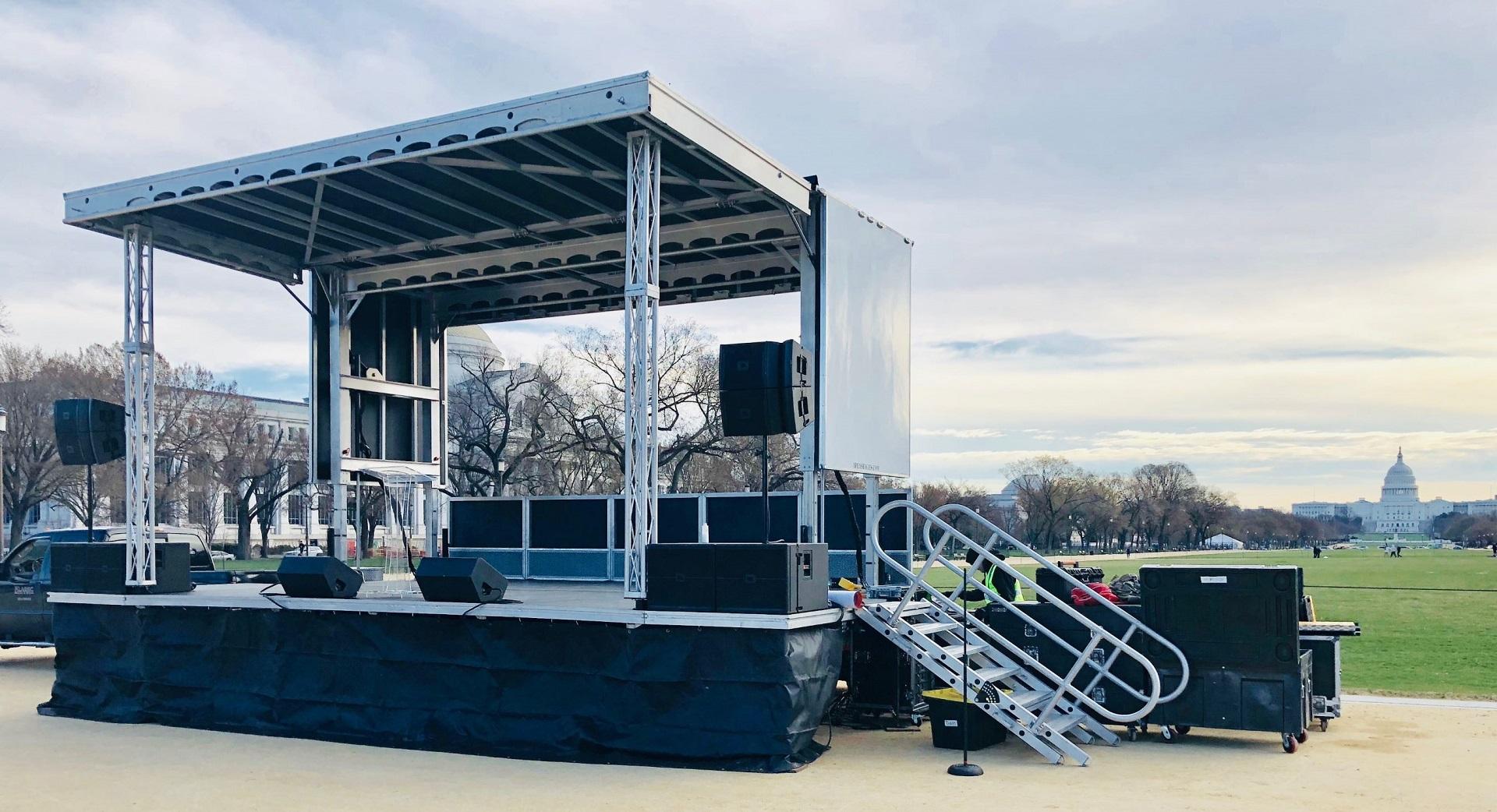 Mobile Stage Rental, Sound System Rental, Professional Audio, Washington DC, Event Rental Company