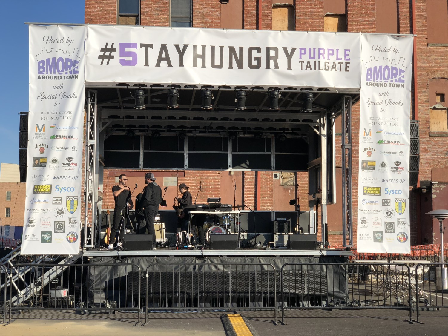 Bmore Around town Mobile stage banner package