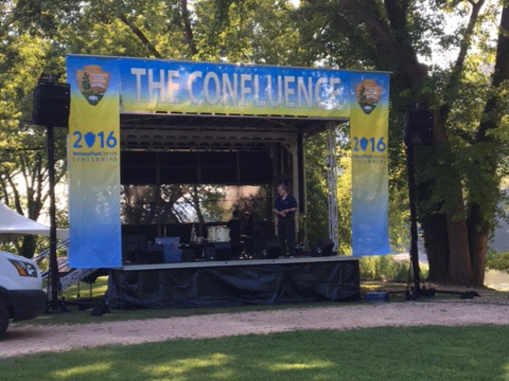 Apex 2016 Mobile Stage rental at the Confluence event in_