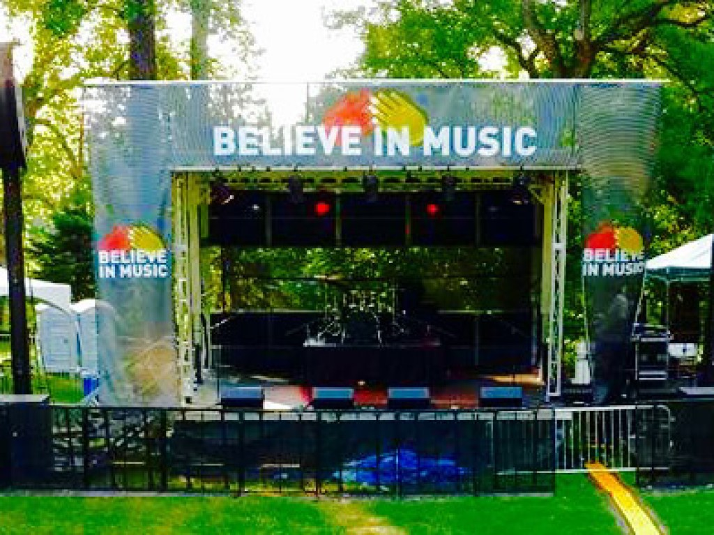 Apex 2016 Mobile Stage rental for the Believe in Music event at the Baltimore Zoo in Maryland