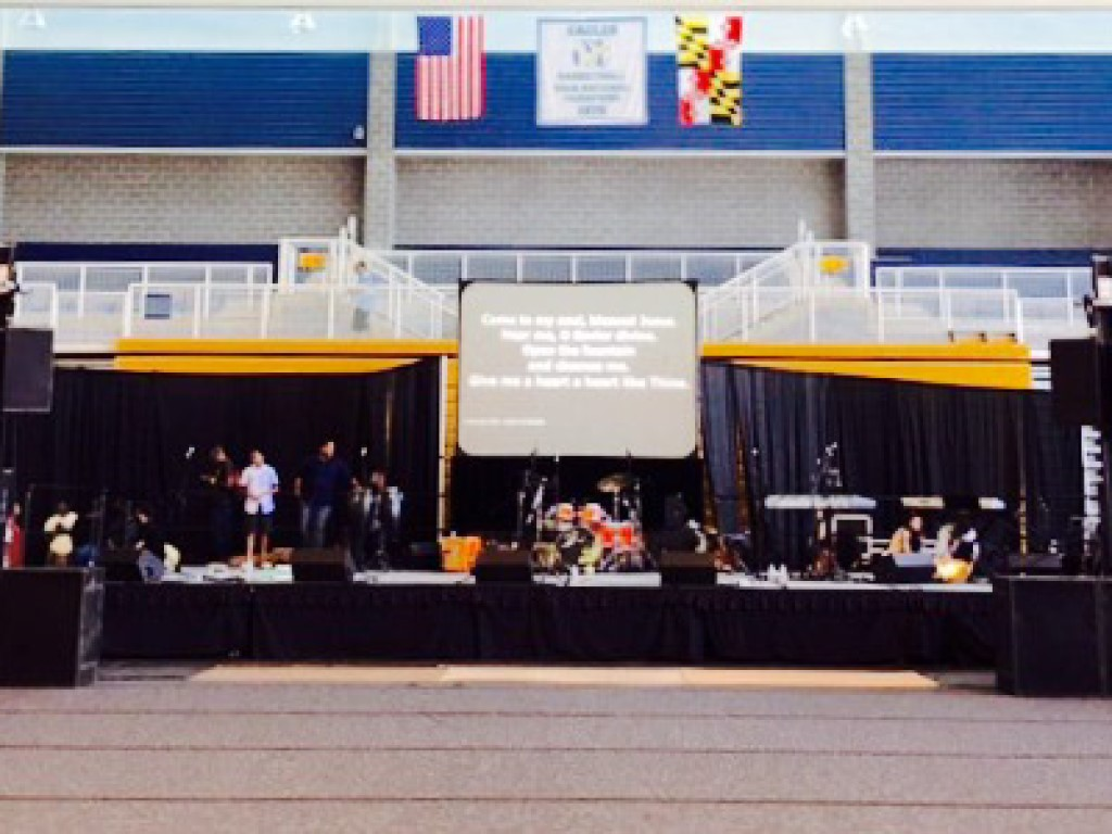 Sound system rental at Coppin State University in Baltimore Maryland