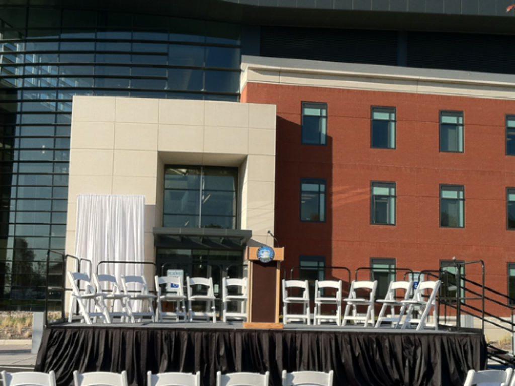 Staging and Sound at the City of Alexandria Police Headquarters grand opening ceremony