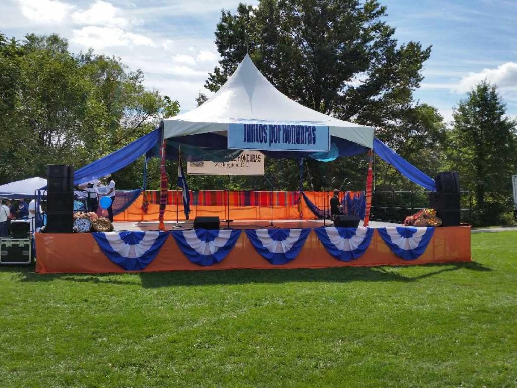klassic sound builds bil jax stage for embassy of honduras independence day celebration #dceventproduction #biljaxstage #dcstagerental