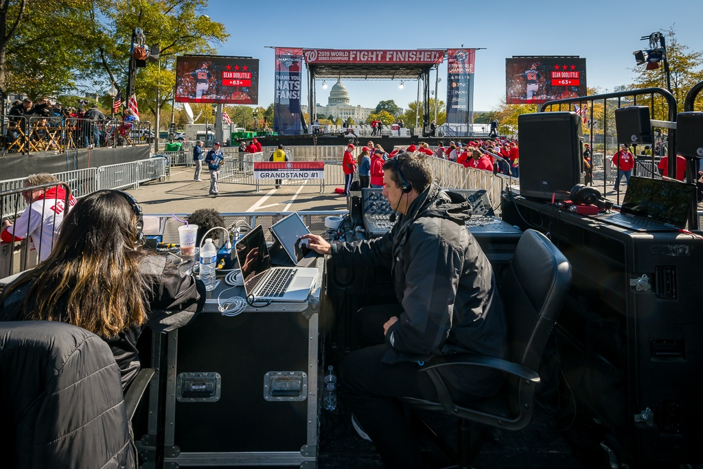 Klassic Sound & Stage provides Staging and Sound at the Washington Nationals Parade in Washington, DC.