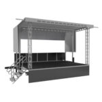 3D rendering of our APEX 20x16 mobile stage.