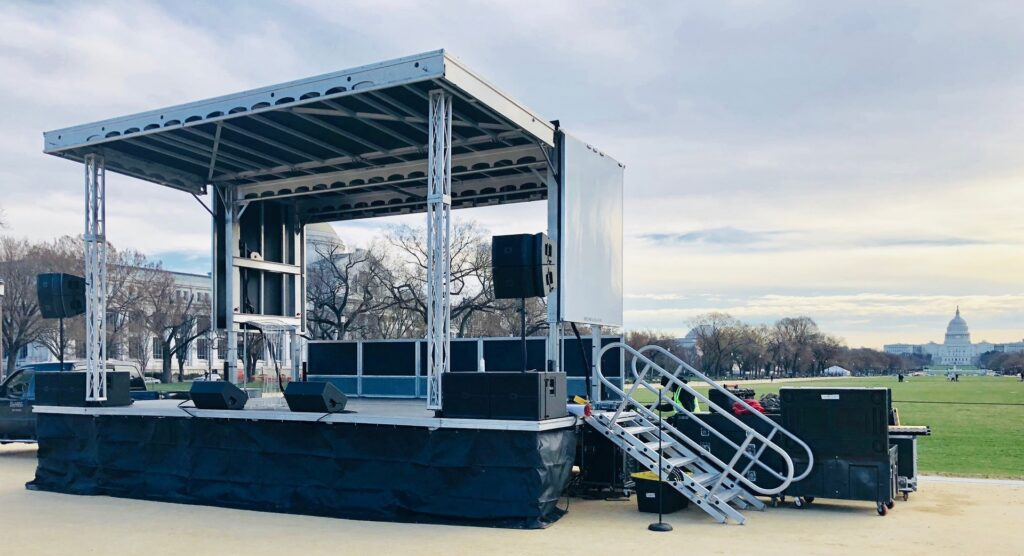 Our APEX Mobile Stage provided for an event on the National Mall in Washington DC