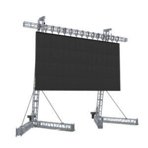 3D computer aided design rendering of LED video wall