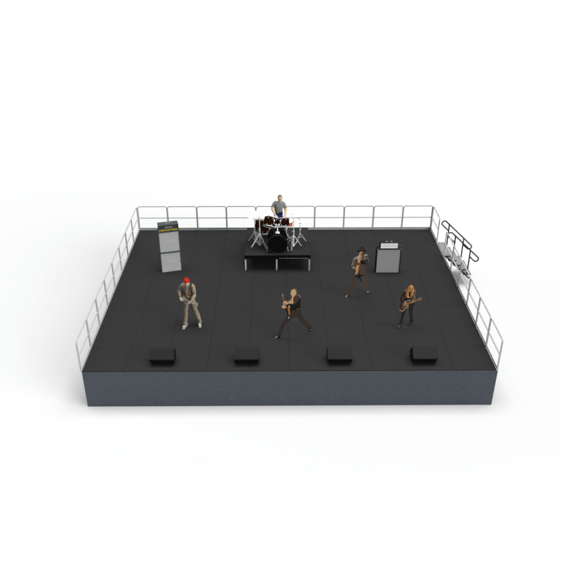 3D computer aided design rendering of a concert entertainment stage rental