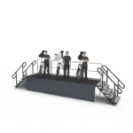 Klassic Sound and stage can provide press risers for special event rentals.