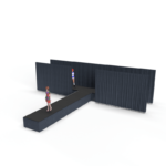 3D computer aided design rendering of a custom runway stage rental