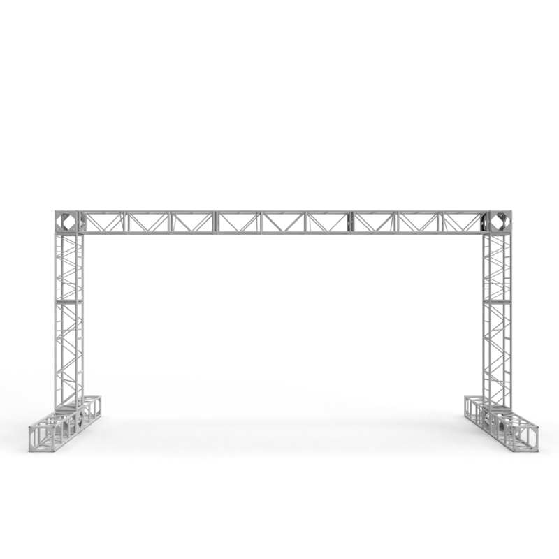 3D computer aided design rendering of a truss signage structure